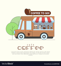 100 Coffee Truck Truck Concept With Thin Line Icons Vector Image