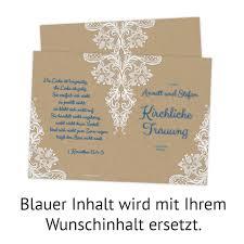 Hochzeit Kirchenheft Rustikal Kraftpapier