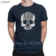 Cartas Creativas Camiseta Hombre Cráneo Bajo Guitarra Camiseta Para Hombre Equipado Camiseta Básica Para Hombres Algodón Camiseta De Los Hombres