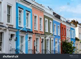 100 Notting Hill Houses Colorful Serial Seen Stock Photo Edit Now