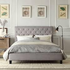inspiring queen bedroom sets under 1000 poster grey fabric bed
