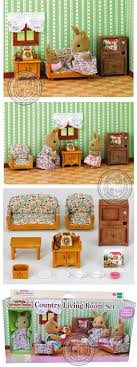 Toys Miniature Sylvanian Families Country Living RoomsLiving Room SetsSylvanian