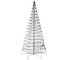 Qvc Pre Lit Christmas Trees by Pre Lit Led 6 U0027 Fold Flat Outdoor Christmas Tree By Lori Greiner