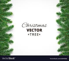 Background With Christmas Tree Branches And Vector Image
