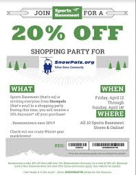 20% Off Sports Basement Coupon - Snowpals