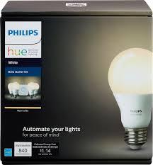 philips hue white a19 led starter kit white 472001 best buy