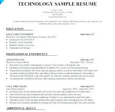 Entry Level It Resume No Experience