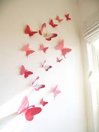 15 3D Paper Butterflies Butterfly Wall Art Decor