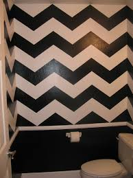 Blue Chevron Bathroom Set by Chevron Print Painted Bathroom Decor Ideas Pinterest Paint