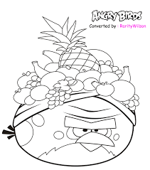 Men White Angry Birds Coloring Pages