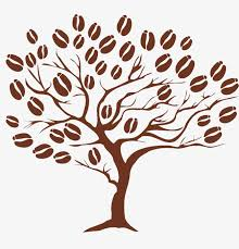 Cartoon Coffee Tree Picture Material Clipart PNG Image