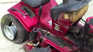 how to remove a murray mower deck youtube