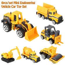 100 Kids Dump Truck 6PCS Diecast Mini Alloy Construction Vehicle Engineering Car Car Model Cars Toy Mini Gift For Boy Hot Sale