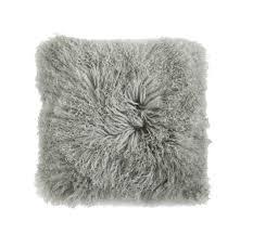 Mongolian Lamb Fur Pillow T A Lorton