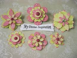 Spring Collection Scrapbook Embellishments And Paper Flowers
