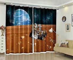astronaut nasas weltraum planeten vorhänge blackout für wohnzimmer schlafzimmer wohnkultur lange oder kurze fenster gardinen stoff