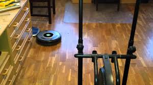 Roomba For Hardwood Floors by Roomba 630 Cleaning House Part 1 Youtube