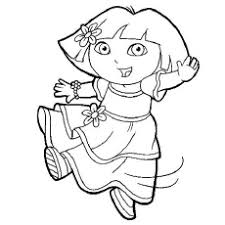Dora As Ballet Dancer The Boots And Tico Coloring Pages