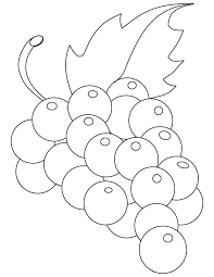 Green Grapes Coloring Pages