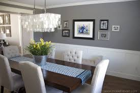 Two Tone Walls With Chair Rail by Inspiring Dining Room Colors With Chair Rail With Dining Room