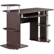 Techni Mobili Computer Desk With Side Cabinet by Techni Mobili Multifunction Computer Desk Chocolate Walmart Com