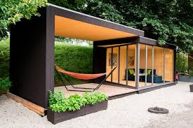 Modern Prefab Studio Shed Design Covered Deck Hammock