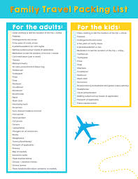 Kid Travel Packing List Family Traveling Pack Source Abuse Report