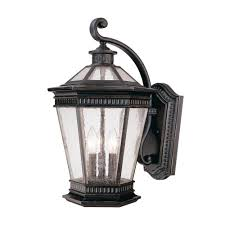 seeded glass outdoor wall light 20 1 4 inch 9198 68