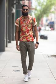 Mens Fashion Street Style Floral Pop Over And Vintage Nikes Aka Swag