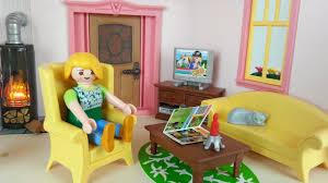 wohnzimmer mit kaminofen 5308 für playmobil puppenhaus seratus1 dollhouse