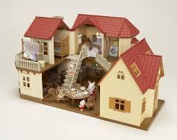sylvanian familie deluxe wohnzimmer möbel set für puppenhaus