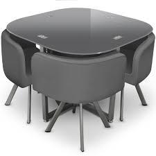 table et 4 chaises table et 4 chaises mosaic 90 gris lestendances fr