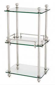 casa padrino badezimmer luxus regalschrank vernickelt glasregal badregal regal schrank glas