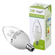 le皰 5w dimmable c37 e12 led bulbs 5000k daylight white led