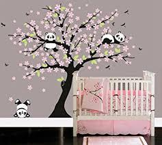 stickers panda chambre bébé bdecoll arbre panda diy stickers muraux arbres stickers