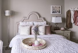 A Blush Pink Grey And Gold Guest Bedroom Design With Havenly Pier 1
