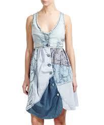 trop robe en jean patch vendre desigual denim by desigual