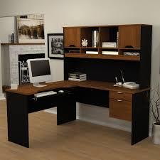 Magellan L Shaped Desk Hutch Bundle by Computer Desks Black Desk Design Best Black L Shaped Computer