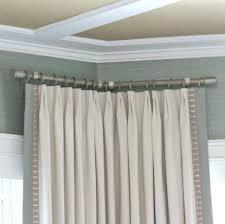 Blockaide Double Curtain Rod by Curtain 92 Fascinating Bay Window Curtain Rod Photos Concept Bay