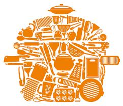 symbole cuisine symbole des articles de cuisine illustration de vecteur