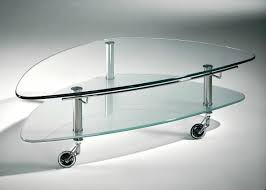 hasse glas couchtisch modell 8074 klarglasplatte mit ablageplatte mattiert oder schwarz
