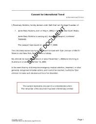 Child Travel Consent Australia Legal Templates Agreements