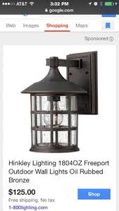 hinkley lighting freeport 1 light outdoor wall lantern size 12 25