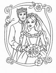 Ken And Barbie Mattel Coloring Page 705x