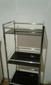 badezimmerregal glas metall chromfarben