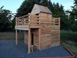 Handmade Pallet Fun Playhouse For Kids