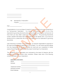 Association Wel e Letter to New Member with Contact
