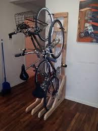 Ceiling Bike Rack Flat by Vertical Bike Rack From 2x4s Vertical Bike Rack Space Saver And