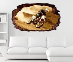 3d wandtattoo motocross motorrad rennen cross selbstklebend wandbild wohnzimmer wand aufkleber 11m231