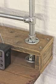 montage de bureau échafaudage récupéré planche de bureau style industriel avec